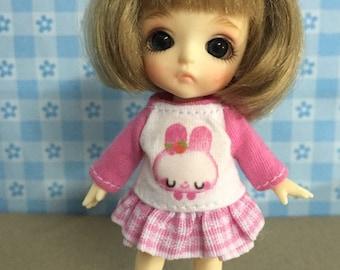 Top and pink Skirt For Lati White/ Pang Ju  #LW009
