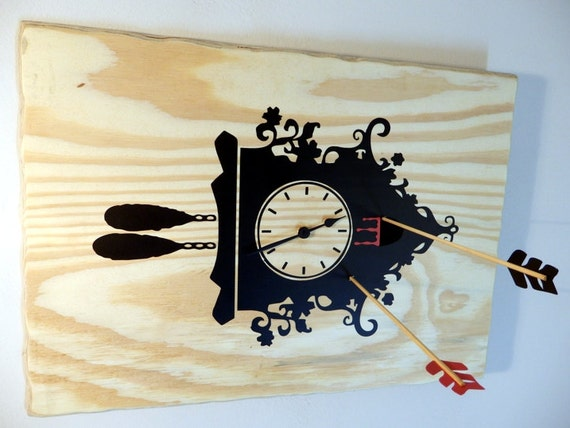 Cuckoo Clock Killed Wooden Wall Clock Of A Unique Concept