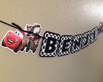 Lightning McQueen Banner, Mater Banner, Disney Cars banner, Cars Birthday, Cars Birthday Banner, Disney Cars Birthday