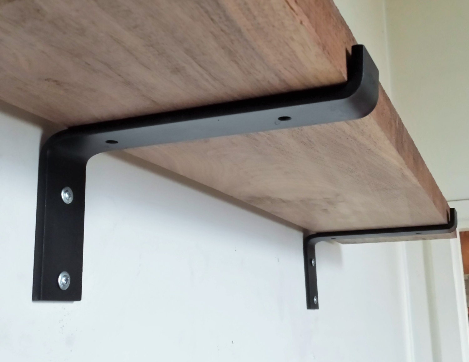 10 industrial light load shelf bracket black iron. Black Bedroom Furniture Sets. Home Design Ideas