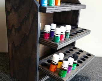 Essential oil storage shelf (holds 72 bottles) Ebony