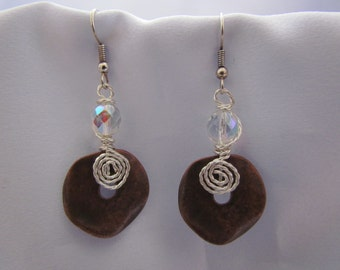 Copper Disk Earrings