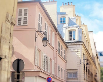 Paris Photography, Pastel Art, Pink Wall Decor, French Buildings, Paris Photo, France Picture, Girls Room, Wall Art, 8 x 10, 11 x 14 Print
