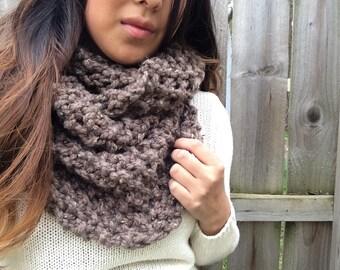 Textrued Knit Infinity Loop Scarf