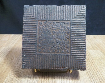 Tile of terracotta with ancient bas-relief | France 1800