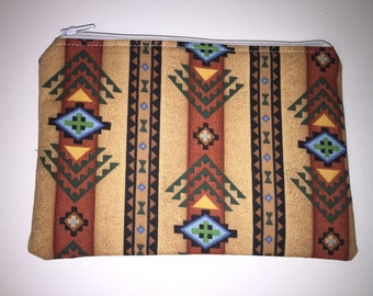 Western zippered pouch