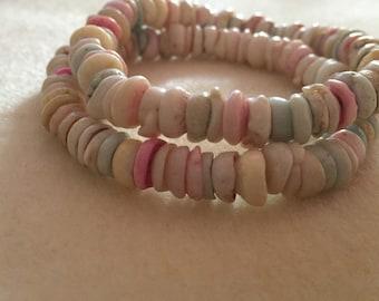 Candy Shell Bracelet / Beaded / Gift / Present / UK Seller
