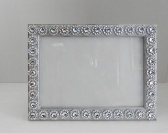 wedding picture frame 5x7 silver wedding glass picture decor bling picture