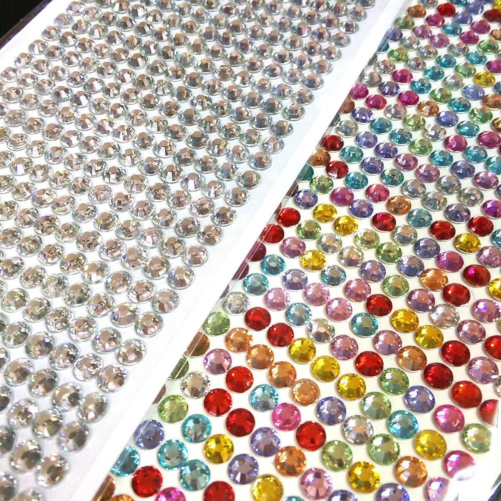 Large rhinestone sticker cabochon decoration adhesive in for Large adhesive rhinestone letters