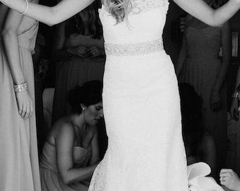 Isidora Bridal Sash - Bridal Belt, Wedding Sash, Wedding Dress Belt, Beaded Sash