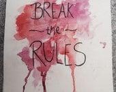 """Postkarte """"Break the rules"""""""