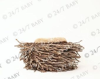 Digital Studio Backdrop Download Natural Wooden Owl Bird Nest Prop Newborn Baby Photography
