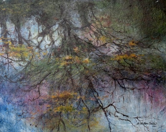 """Acrylic Painting on Stretched Canvas, """"Reflections"""" by artist Walt Carter"""