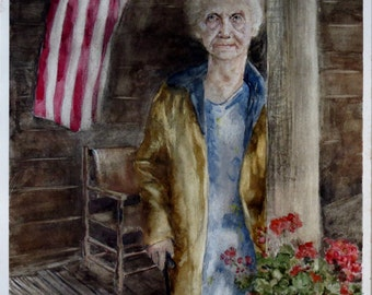"Watercolor Painting ""Veteran's Day:  Never Forgotten"" by artist Walt Carter"