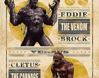 Venom vs. Carnage 11x17 Fight Night Poster