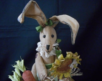 Primitive Easter Bunny / Rabbit  Grungy Home Decor...Rustic Country Home...Easter Decoration...