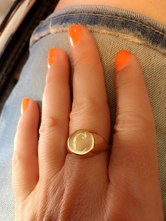 Engraved ring Personalized Ring Signet Ring women ring men