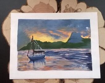 Acrylic Painting Lake Serenity