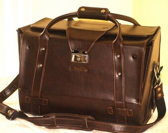 "Minolta Camera Case ""Doctor Bag"" Like New w/ Keys Vintage"