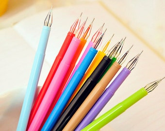 New Arrival Set of 12 Colors pen Gel Ink Pens 0.38mm Color Diamond Head Ball Pen