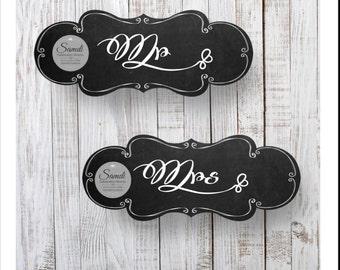 Mr & Mrs Wedding Chalkboard signs
