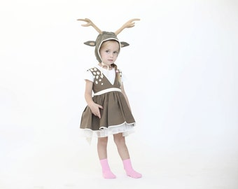 halloween Deer costume, Girls dress up, kids halloween costume, Halloween , girl costume,  toddler costume, costume children