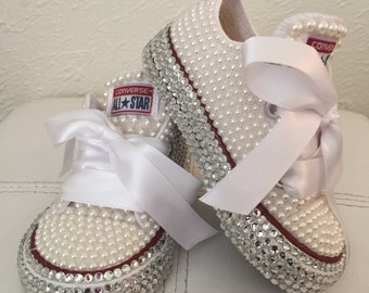 Baby diamond and pearl Converse