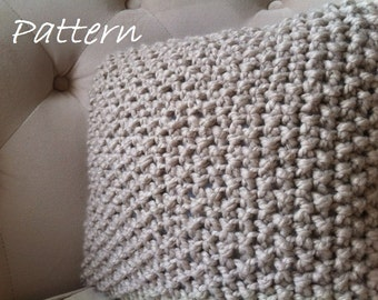 Decorative Knit Pillow Pattern / DIY Chunky Throw Pillow Cover