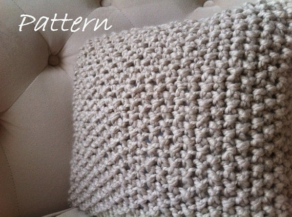 Decorative Knit Pillow Pattern Diy Chunky Throw Pillow Cover