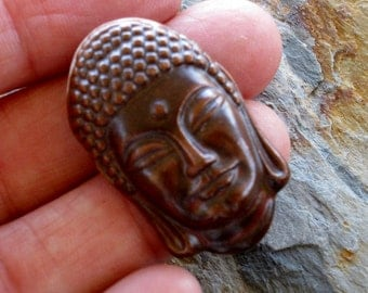 Porcelain Clay Ceramic Buddha Pendant Necklace