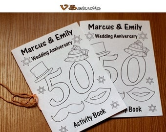 kids wedding anniversary activity book 40th50th60th wedding anniversary coloring pages