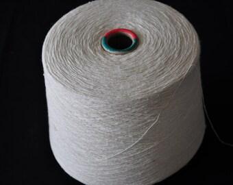 1 spool 0,9 kg 100 bourette silk yarn nature Nm 20/1 on paper cone 450 den