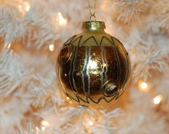 Vintage, Christmas Ornament....Christmas Past Hand Painted
