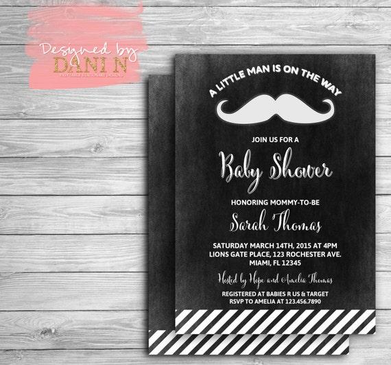 Mustache baby shower invitation little man chalkboard baby shower il570xn filmwisefo