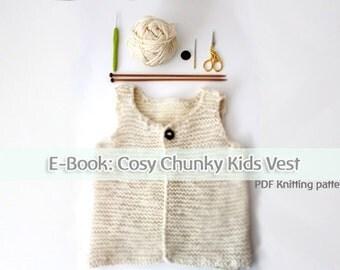 "Cosy chunky knit vest ""Jurek"" for kids - EBook"
