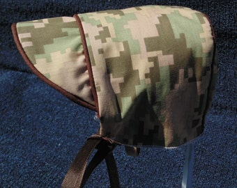 Baby Boy Camouflage Hat with Brown Trim
