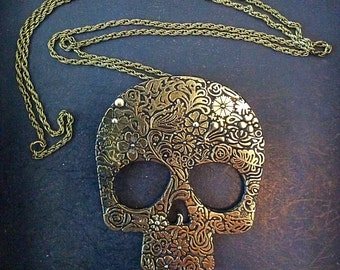 Detailed Day Of The Dead Necklace