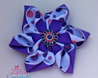 Flower Bow with Bling