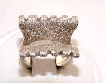 Fretz Designer Abstract Sterling Silver Ring