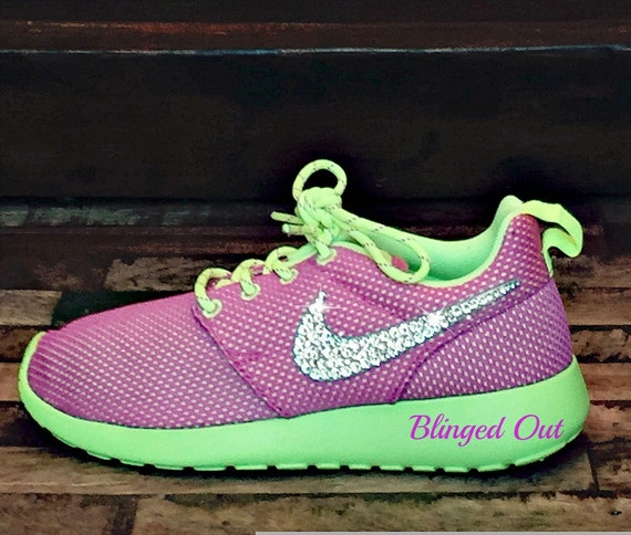 xlmim Bling Nike Roshe Run Big Girl\'s Shoes in by ShopHarrietandHazel