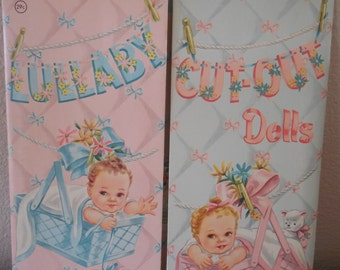 Vintage - Lullaby Cut-Out Dolls