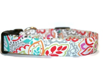 Bright Floral Dog Collar