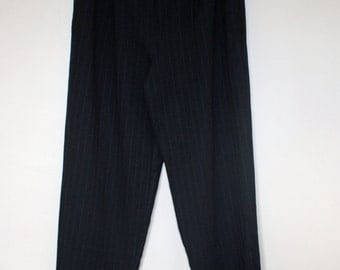 Blue Pinstripe Country Road High Waisted Pants