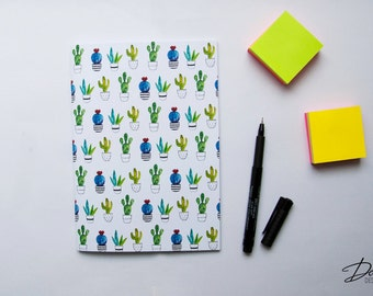 Cactus Notebook with 40 blank pages