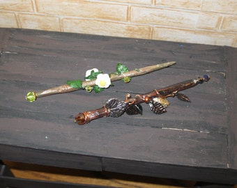Miniature Wands of Spring and Autumn sized for Fashion Dolls