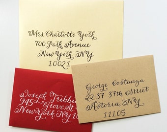 Traditional Alphabet - Calligraphy Envelope Addressing - Made to Order