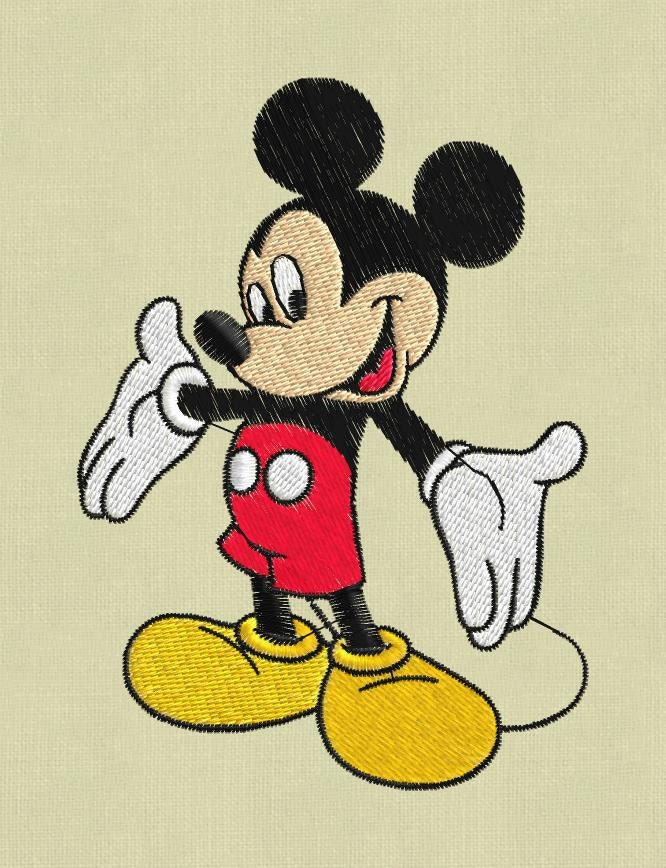 Mickey Mouse 2 Embroidery Designs Pes Hus Jef Vp3
