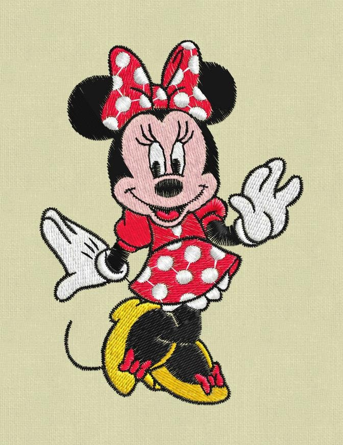 Minnie mouse embroidery design pes hus jef vp