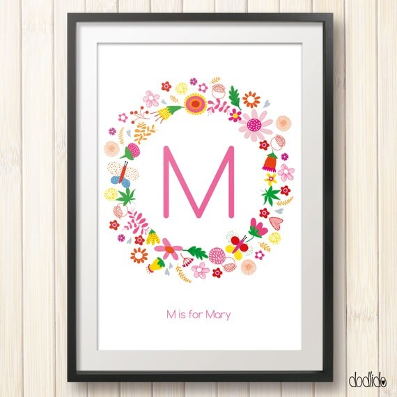 Personalized Baby Girl Wall Art Girls Wall Artkids Room By