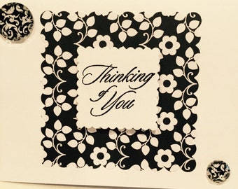 Thinking of You Card. Thinking of You Handmade Card. Caring Card, Handmade Cards